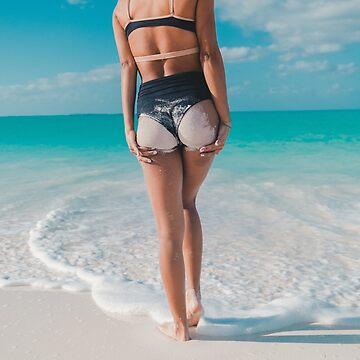 Girl walking to beach by VinyLab