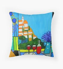 Provencal Abstractions Throw Pillow