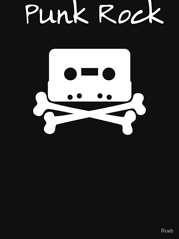 Punk Rock Cassette Skull by Rueb