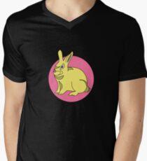 RABBIT BUNNY  PINK  Mens V-Neck T-Shirt