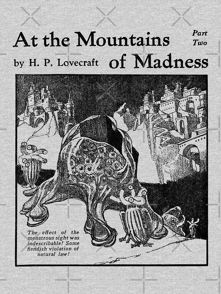 At The Mountains Of Madness H.P. Lovecraft Illustration by buythebook86