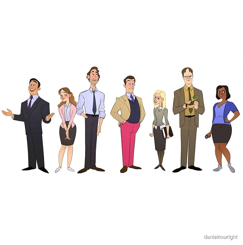 The Office, in cartoon form... by danielmwright