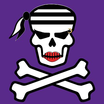 Sexy Lady Pirate Lipstick Skull by BlackCoffeeCake