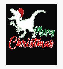 Christmas dinosaur Christmas present Photographic Print