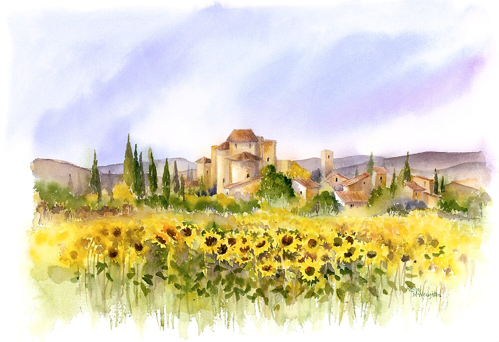 Sunflowers in Tuscany by artbyrachel