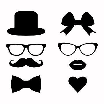Hipster Stickers by alijun