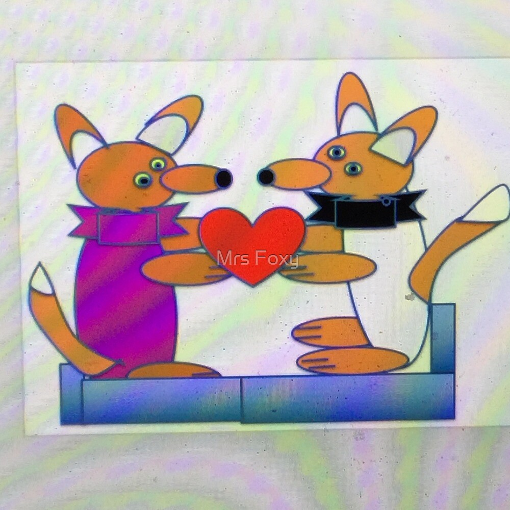Mr and Mrs Foxy Rainbow Colours by Mrs Foxy