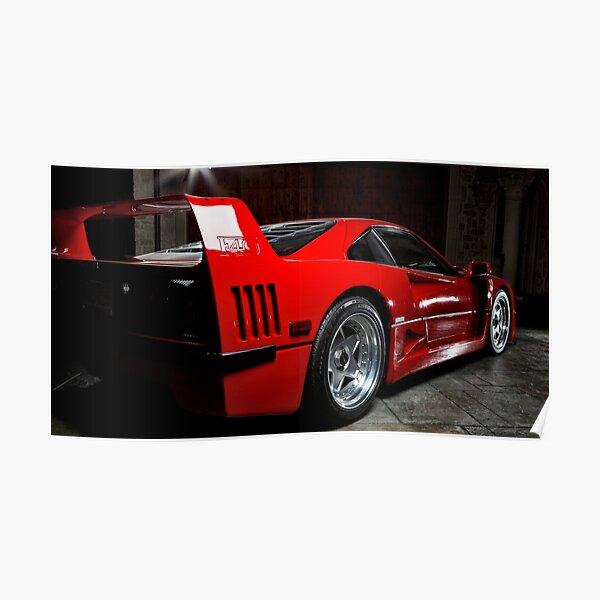 Ferrari F-40 Side Poster