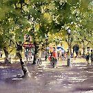 Sous les Arbres (Under the Trees) by artbyrachel