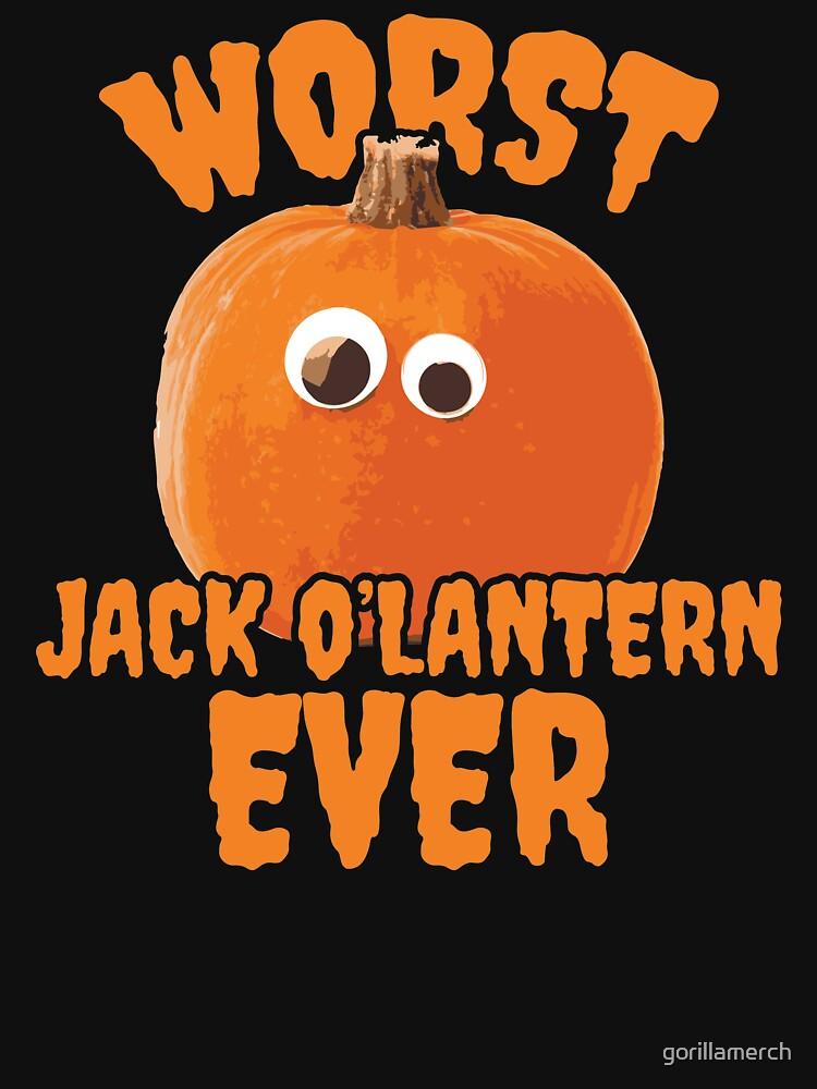 Worst Jack O'Lantern Ever. Funny Halloween Pumpkin by gorillamerch