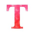 Letter T - Red by gaman