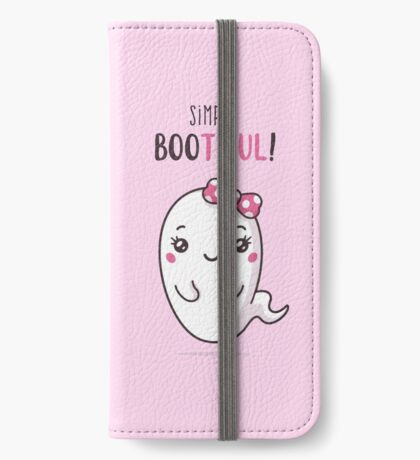Simply Bootiful - Halloween Ghost iPhone Wallet