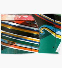 Colorful traditional fisherman boats Poster
