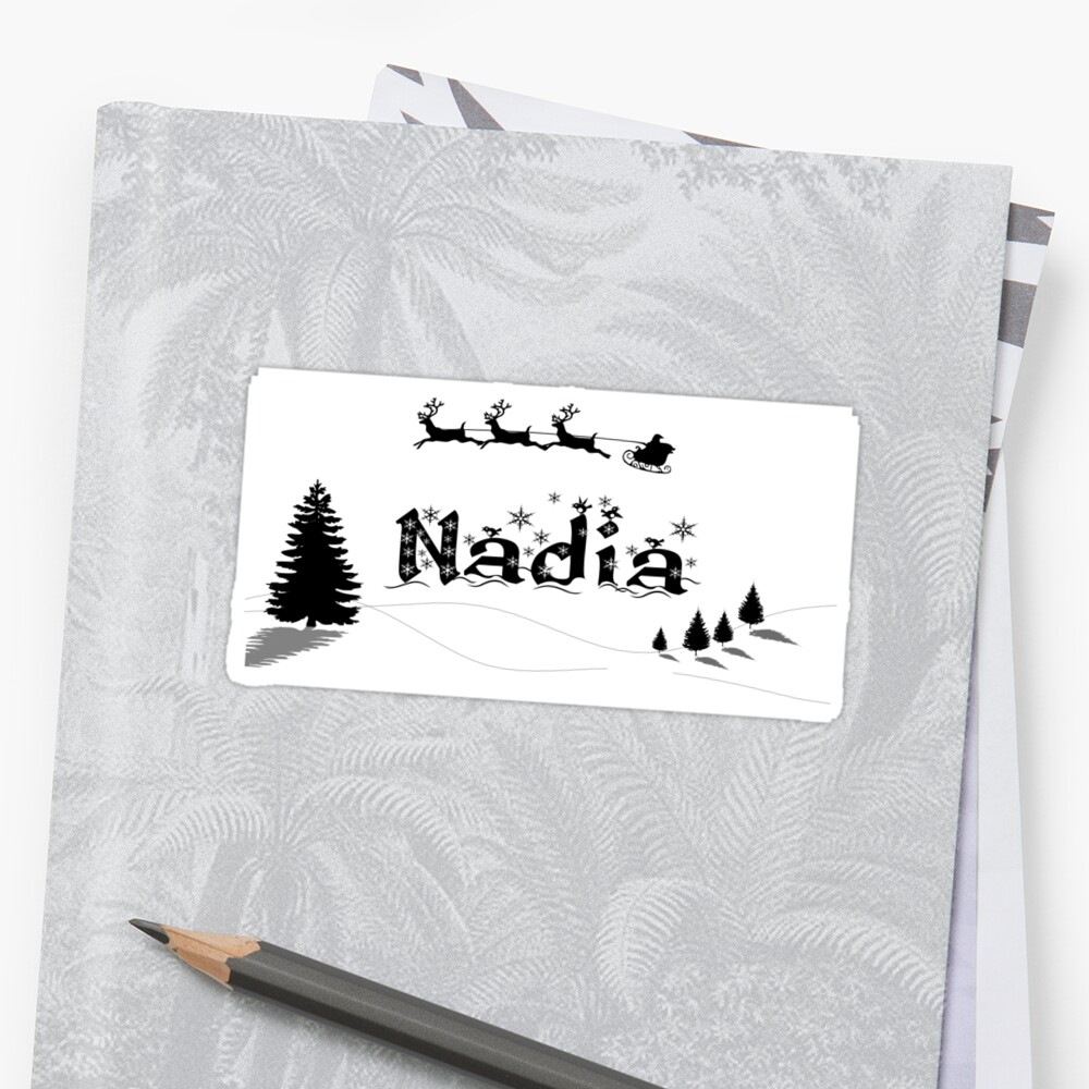 Christmas Name Nadia by PM-Names