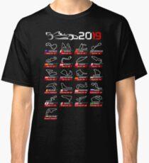 Calendar F1 2019 circuits sport Classic T-Shirt