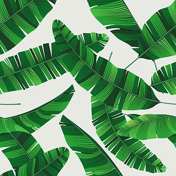Colorful summer seamless tropical pattern with banana leaves by maximgertsen