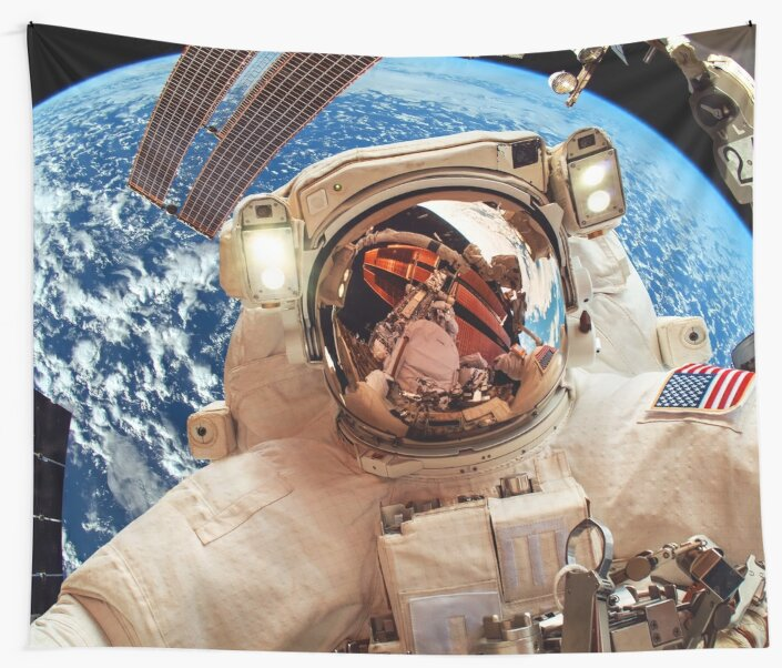 Astronaut on the background of the Earth ⛔ HQ quality by MichailoAvilov
