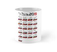 Quot Calendar Race Cars 2019 Circuits White Sport Quot Canvas