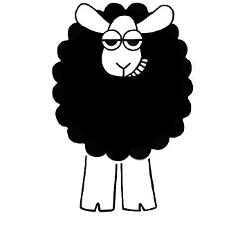 Mock Me Sheep - white text by WeBeBlacksheep