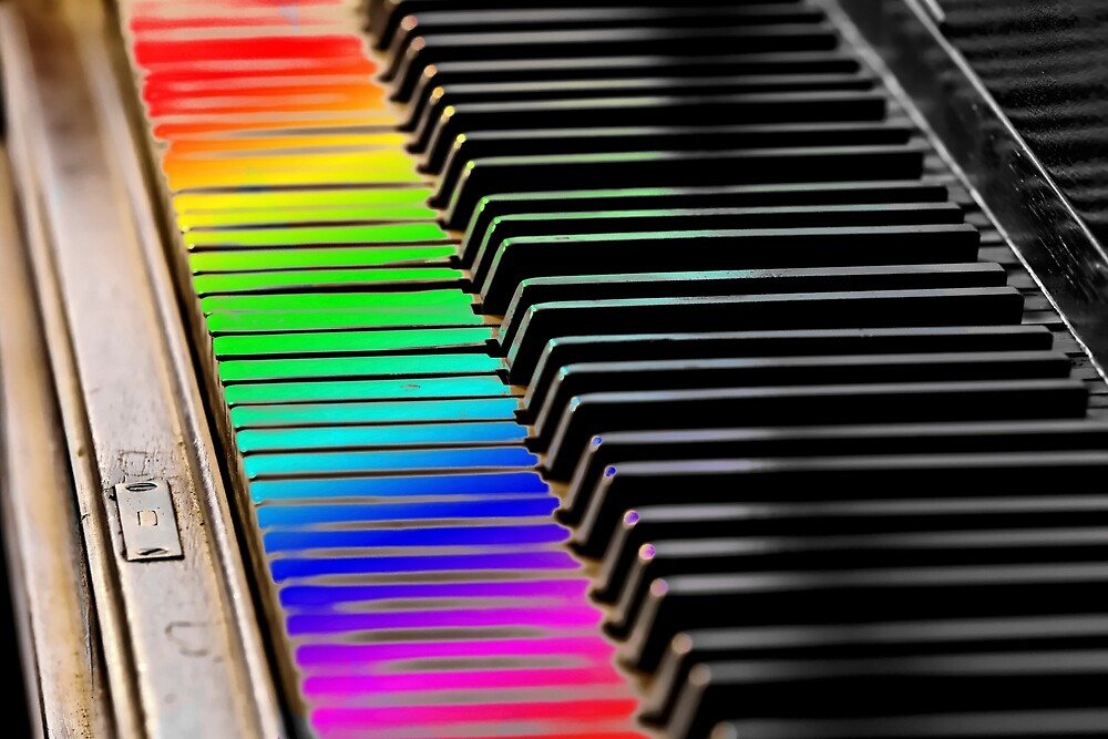 Rainbow Piano Keys by Warren Paul Harris