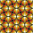 Geometric Pattern: Art Deco: Curve: Sunset by * Red Wolf