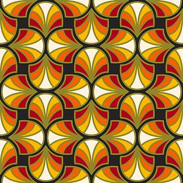 Geometric Pattern: Art Deco: Curve: Sunset by redwolfoz