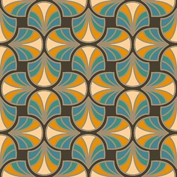 Geometric Pattern: Art Deco: Curve: Lily by redwolfoz