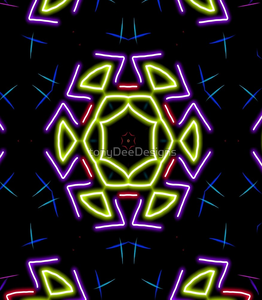 neon psychedelic background  by tonyDeeDesigns