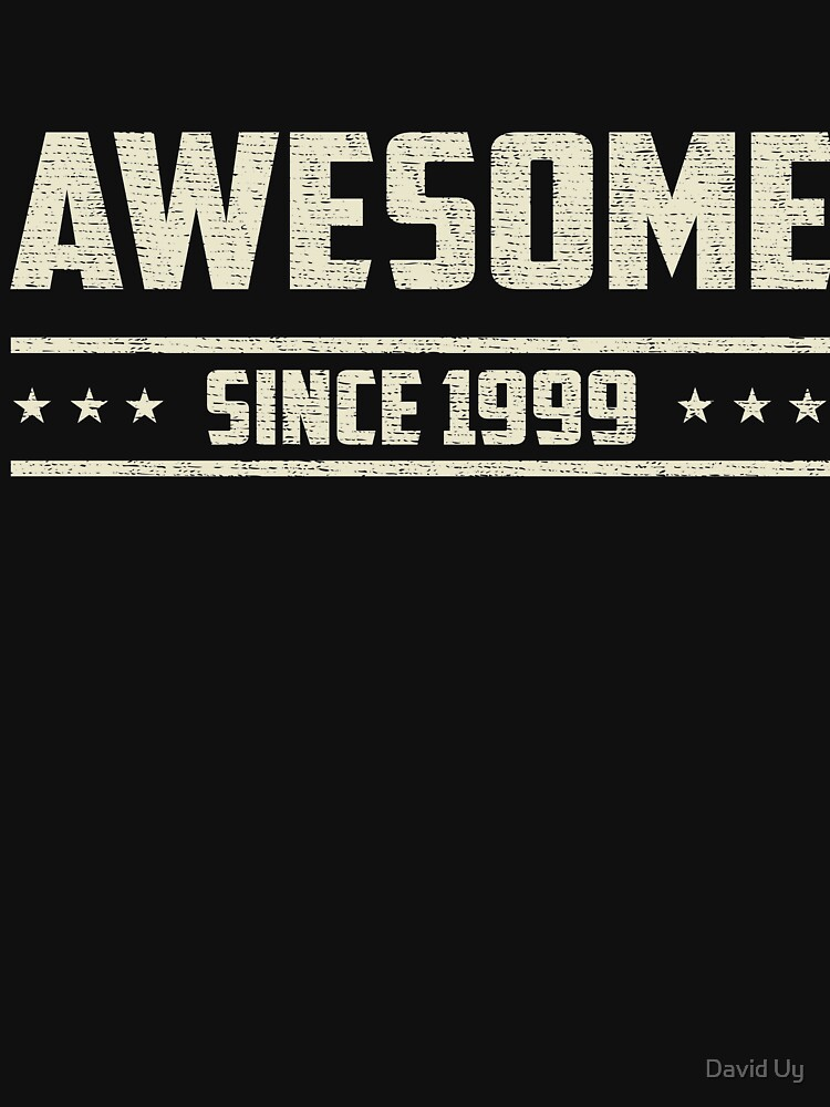 Awesome Since 1999 - Vintage 1999 - Birthday Celebration Gifts by daviduy