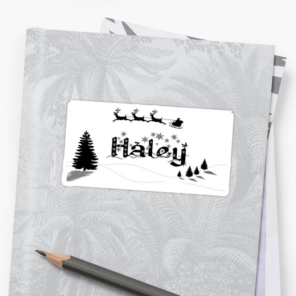 Christmas Name Haley by PM-Names