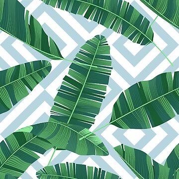Seamless pattern tropical banana leaves by maximgertsen