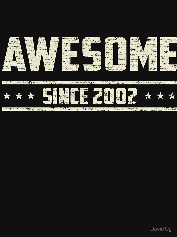 Awesome Since 2002 - Vintage 2002 - Birthday Celebration Gifts by daviduy