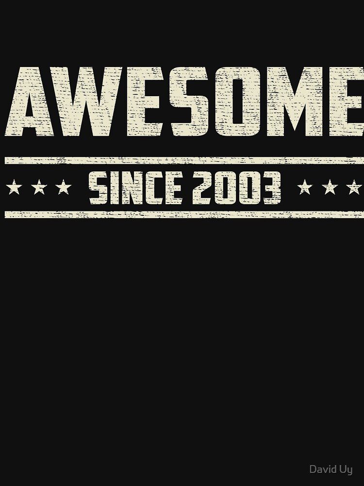 Awesome Since 2003 - Vintage 2003 - Birthday Celebration Gifts by daviduy