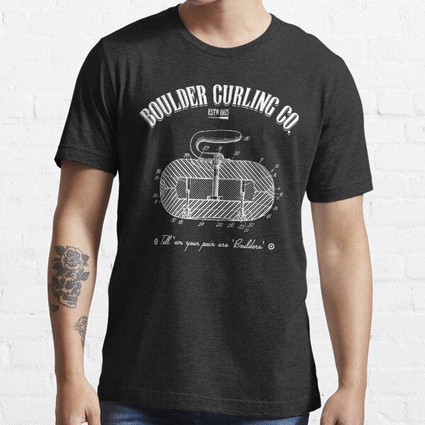 Vintage Curling Rock - Boulder Curling Co. Essential T-Shirt