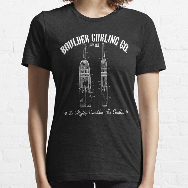 Vintage Corn Broom - Boulder Curling Co. Essential T-Shirt