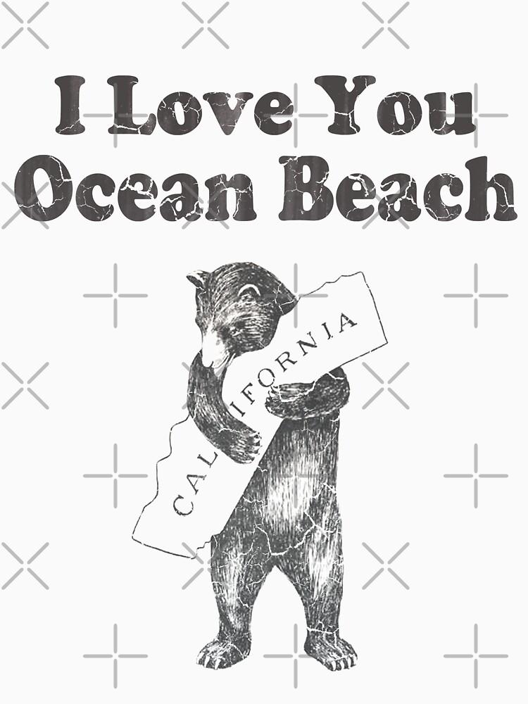 I Love You Ocean Beach California by frittata
