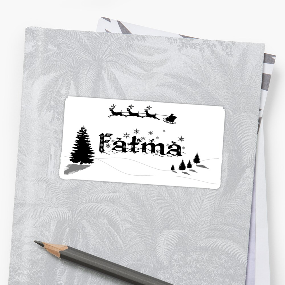 Christmas Name Fatma Sticker Front