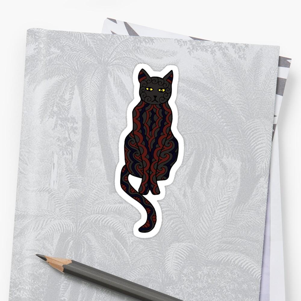 Black Cat Sticker Front