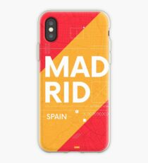 Madrid travel illustration iPhone Case
