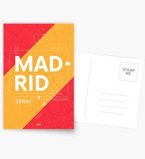 Madrid travel illustration Postcards
