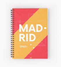Madrid travel illustration Spiral Notebook