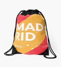 Madrid travel illustration Drawstring Bag