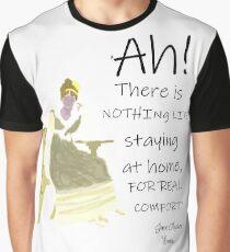 Jane Austen Home Comforts Quote Graphic T-Shirt