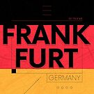 Frankfurt travel illustration by maximgertsen