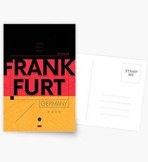Frankfurt travel illustration Postcards