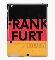 Frankfurt travel illustration iPad Case/Skin