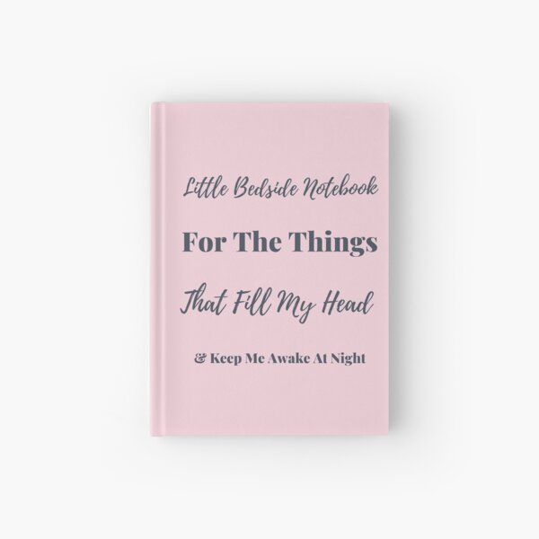 Pink Bedside Notebook  Hardcover Journal