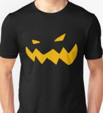 Halloween Kürbis Fratze Unisex T-Shirt