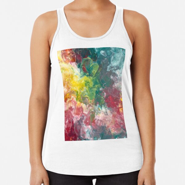 Colorful Marble Racerback Tank Top