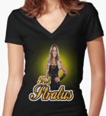 trish Women's Fitted V-Neck T-Shirt